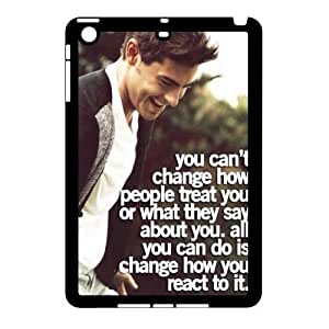 T-TGL(RQ) DIY Zac Efron Pattern Protective Durable Back Case for Ipad Mini