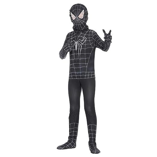 NDHSH Venom Spiderman Negro, Traje de Cosplay de Halloween ...