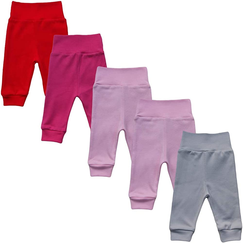 Mea Baby unisex baby pants made of 100/% cotton in pack of 5 pumps Baby Boys // Girls Trousers Loafer Pants
