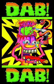 Trog Dab! Dab! Blacklight Poster - cannabis wall art