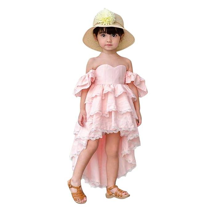 8e9657709 K-Youth® Ropa de Bebe Niña de Verano Vestido Niña Fiesta Sin Tirantes  Irregular