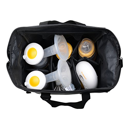 MADENAL Double Electric Breast Pump Travel Set, Ice Pack, Breastmilk Storage Bags, Super Quiet, Effective and Comfortable with On the Go Cooler Bag by MADENAL (Image #6)