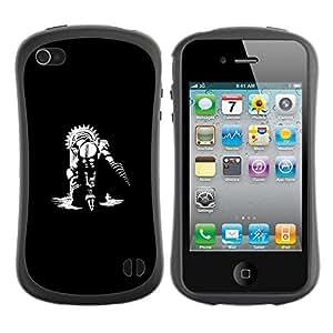 Suave TPU GEL Carcasa Funda Silicona Blando Estuche Caso de protección (para) Apple Iphone 4 / 4S / CECELL Phone case / / Big Daddy /