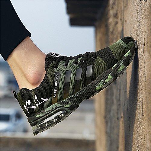 Zapatillas Unisex de Adulto TUOKING Camouflage Verde Deporte Ax5fngq