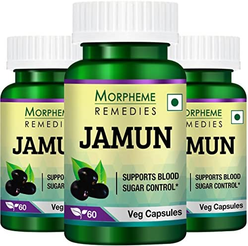 Morpheme Jamun 500mg Extract 60 Veg Caps – 3 Bottles