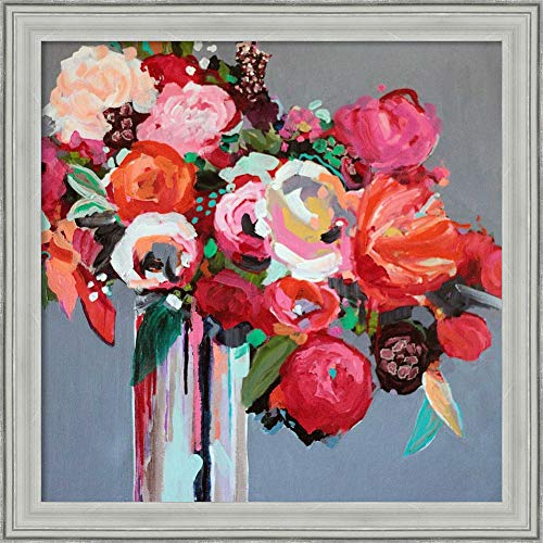 Canvas Art Framed 'Confetti' by Jacqueline Brewer ()