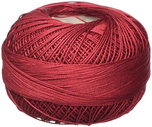 Handy Hands 210-Yard Lizbeth Cotton Thread, 25gm, Victorian Red ()