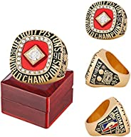 1990 Detroit Basketball Championship Ring Official Version Replica with Wooden Box Men Alloy Ring for Pistons
