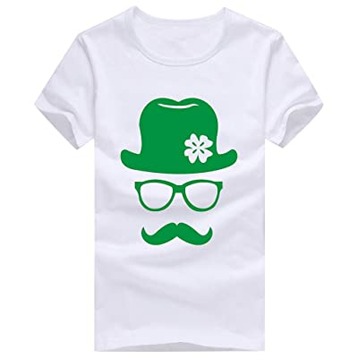 Retro Green Irish Distressed Shamrock Novelty T-Shirt St Patricks Day Mens Ireland Pride Tee Shirt: Clothing