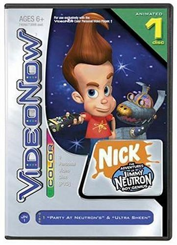 Hasbro VIDEONOW Color Personal Video Disc: The Adventures of Jimmy Neutron Boy Genius: Party at Neutron's and Ultra -