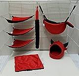 Brown Sugar Pet Store 7 piece Sugar Glider Red Devil Cage Set Light