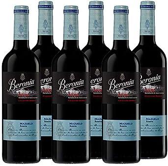 Vino tinto Beronia Mazuelo de 75 cl - D.O. La Rioja - Bodegas Gonzalez Byass (Pack de 6 botellas): Amazon.es: Alimentación y bebidas