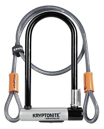 Kryptonite New-U KryptoLok Series 2 Standard Bicycle U Lock with 4ft Flex Bike Cable For Sale