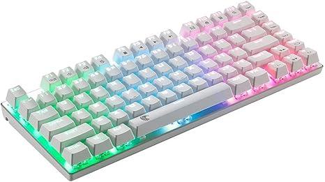 Teclado mecánico RGB retroiluminado 81 teclas Mini teclado ...