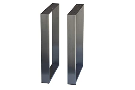 Alpha Furnishings Table Legs Metal Legs U Shape Furniture Legs 28 Stainless Steel 2pc Set Stainless Steel