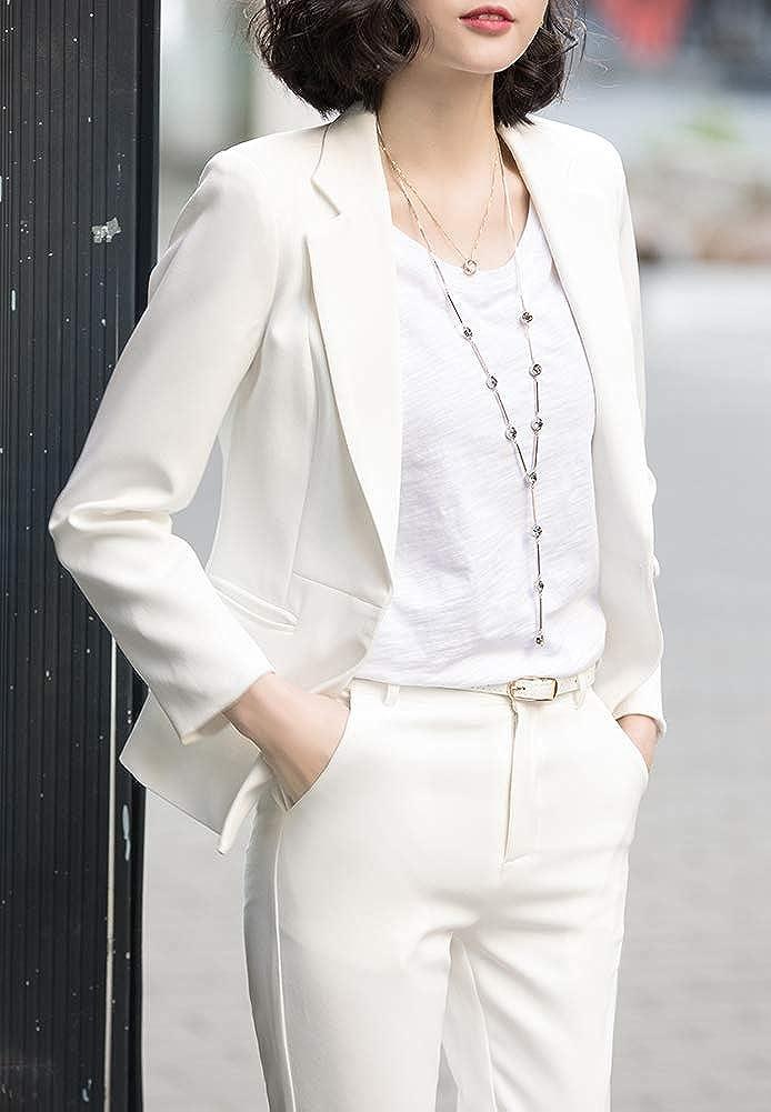Tinta Unita Tempo Libero Business LISUEYNE Vestito da Donna Basic Slim Fit Design Formale Design Classico Colletto Sera Matrimonio