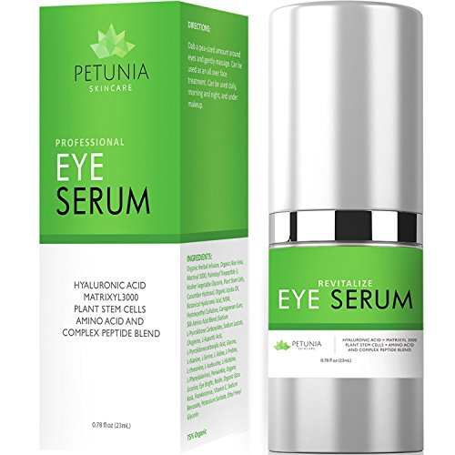 Revitalize Eye Serum | Anti-Aging Treatment for Loss of Elasticity, Puffiness and Dark Circles | Intensive Hydrating Repair for Dry Skin | Helps Diminish Fine Lines & Wrinkles | 0.78 fl. oz. Cucumbers Eye Love Cucumbers