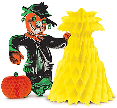 Beistle 00822 Vintage Halloween Scarecrow Centerpiece, 10.75