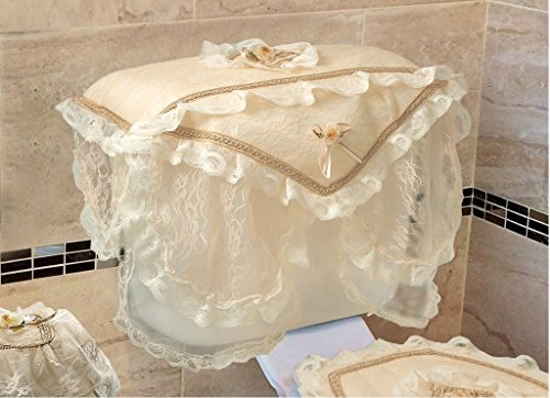 Luxurious And Elegant - Eden Lace Style Bathroom Tank Cover - Gold