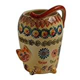 Italian Dinnerware - Utensil Jar with Assorted Animals - Handmade in Italy from our Festa Collection
