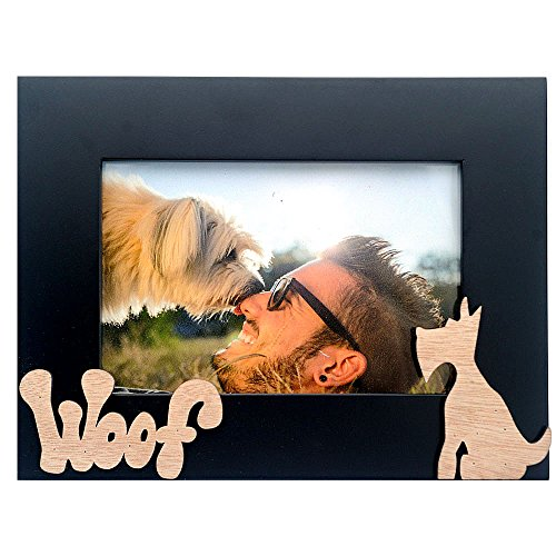 Cozzy Home Inc-I Love My Pet/Dog Picture Frame, 4x6, Black ()