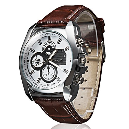 4617d836ebf Reloj Pulsera Quartz Análogo de Cuero para Hombres Colores Surtidos