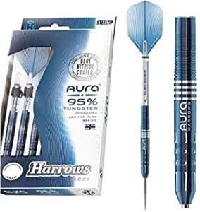 Harrows Dart Pin aura a2 Tungsten Blue Nitride - 22 Gram - Set of 3 Dart