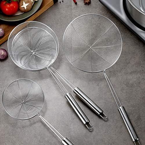 Wassermelone Edelstahlsieb-Haushalt mikro-perforiert mit professionellem Siebkorb Küche Multifunktionsfilterlöffel Küchengeräte (Size : D)