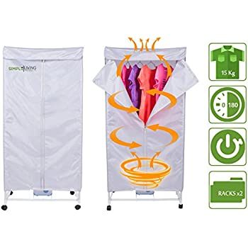 15KG Compact Electric Portable Clothing Dryer - Portable Clothes Dryer Rack Dries Clothing in 30 Minutes. Saves Time, Money & Space. Dries Everything. Use it Anywhere.