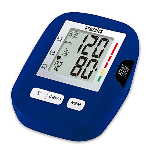 Automatic Blood Pressure Monitor | Smart Measure Technology | Battery Operated, Multi-User, Auto Shut-Off | HoMedics (Arm, Standard)