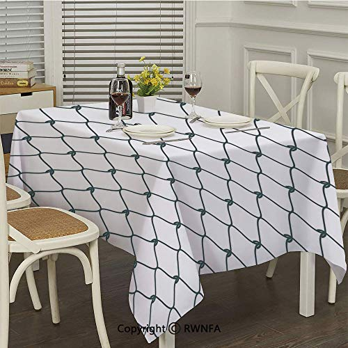 - RWNFA Rectangular Tablecloth,Curvy Wavy Lines Oval Shapes with Delicate Knots Simple Elegance Decorative(54