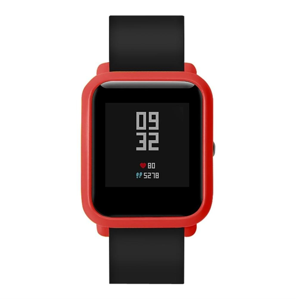 Saisiyiky huami amazfit Protector para xiaomi huami amazfit bip Youth, Marco de Colores PC Funda de protección para xiaomi huami amazfit bip ...