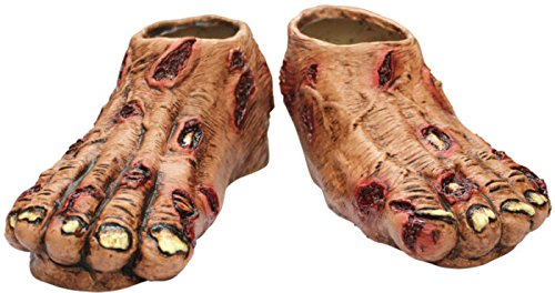 Zombie Flesh Feet Shoe Covers (Undead Nightmare Costumes)