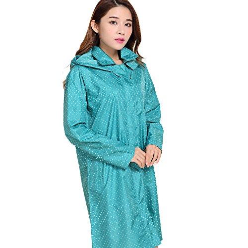 薄くて軽い ラブリー ドット レインコート 青 超薄型 レインコート シェイクドライ Ms. レインコート 軽量 レインウェア 防水 携帯袋付き