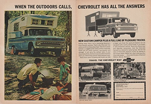 1966 CHEVROLET CUSTOM CAMPER, CHASSIS CAB, CHEVY-VAN CONVERSION & STEP-VAN TRAVEL COACH