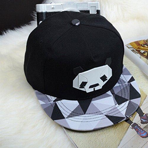 Zeroyoyo Mens Snapback Baseball Cap Geometric Panda Hip-Pop Hat