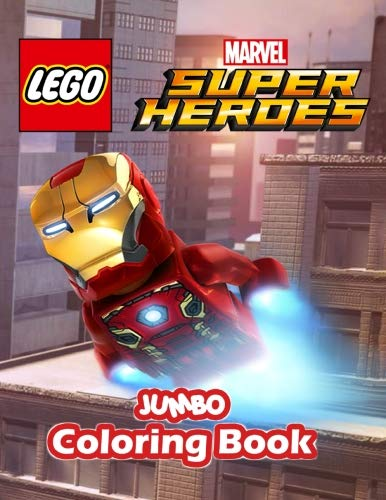 Lego Marvel Super Hero Jumbo Coloring Book: DC Comics Coloring Book for Kids and Any Fan of Marvel and DC (Perfect for Children Ages 4-12) ()