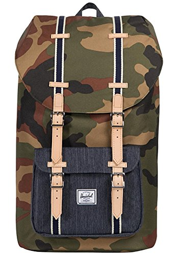 Herschel Supply Co. Unisex Little America Woodland Camo/Dark Denim One Size