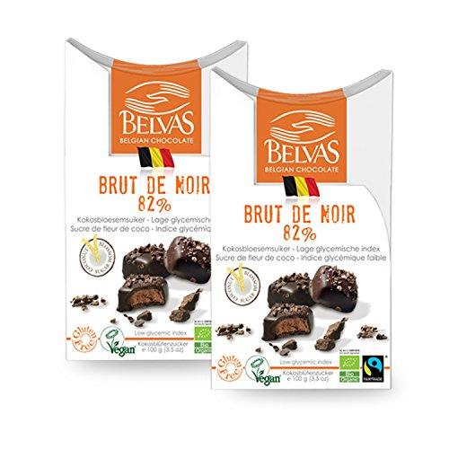 aeec975450b1 Belvas Belgian Brut de Noir Dark Chocolate Praline w Coco Sugar 3.5 oz (2