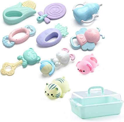 1 Pc Key Card Shape Rattles Teether Toys for Newborn 0-12 Months Sz