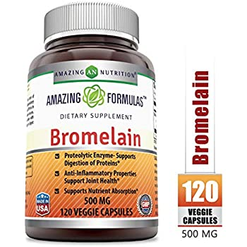 Amazon.com: Herbal Secrets Bromelain 500 Mg 120 Tablets ...