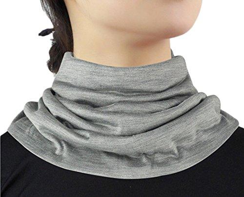 Women's Silk Scarf Winter Warmth Outdoor Sport Headwrap Grey