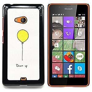 Stuss Case / Funda Carcasa protectora - Texto motivación inspiradora Globo Amarillo - Nokia Lumia 540
