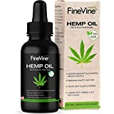 FineVine Hemp Oil Extract - Made in USA - Helps Reduces Pain, Stress and Improves Sleep. Best Skin & Hair Supplement.