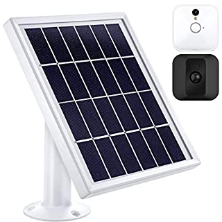 Solar Panel Compatible with Blink XT XT2 Outdoor/Indoor Security Camera and an Adjustable Mount, 12 Feet/ 3.6 m Cable, Supply Power Continuously by Solar Panel (White)