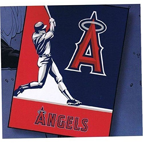 Los Angeles Angels Blanket throw king Size plush Oversized - Biederlack Throws Sports