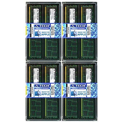 A-Tech For Apple 32GB Kit 8 x 4GB PC3-10600 1333Mhz Mac Pro MacPro5,1 Mid 2012 Mid 2010 A1289 MD771LL/A Memory RAM ()