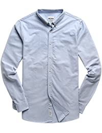Men's Oxford Long Sleeve Button Down Casual Dress Shirt