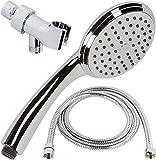 Handheld Shower Head With Hose - High Flow Removable Hand Held Showerhead Kit With Hose & Mount And Rainfall Pressure Spray - Chrome