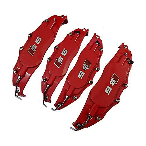 Leadchange 4x Customize Caliper Cover Red Color Kit For Audi Q3 A3 A4 A4L Q5 A5 A6L A6 Car S5 label Brake Cover Styling Decoration Kit Customize Multi-color options 4pcs/Lot